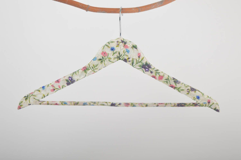 Handmade hanger for clothes decoupage hanger interior decor wooden coat rack photo 2