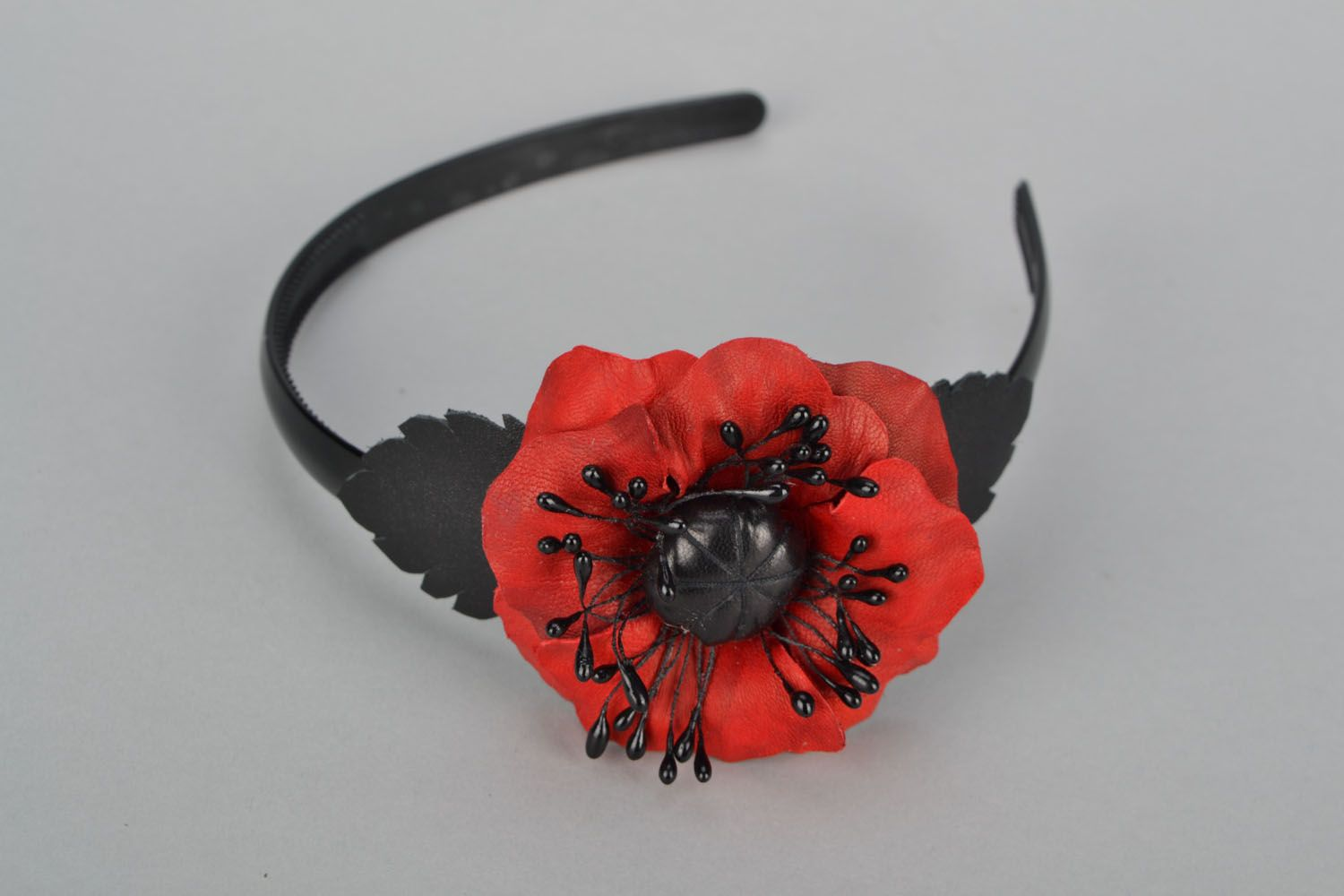 Design headband with poppies photo 1