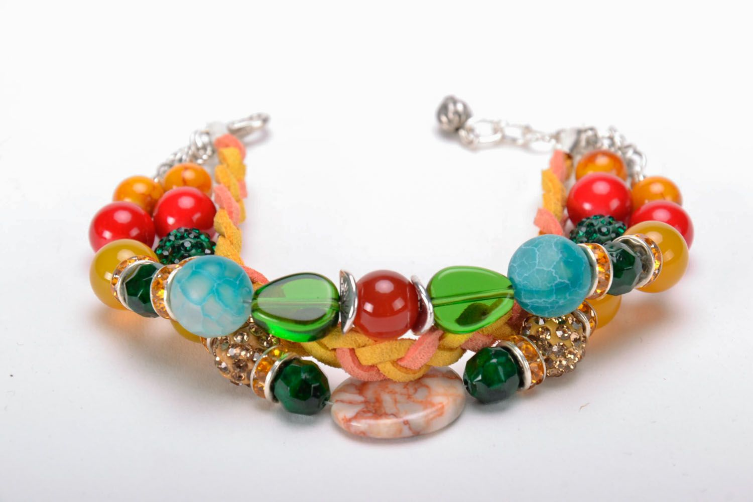 Bracelet made of natural stones photo 4
