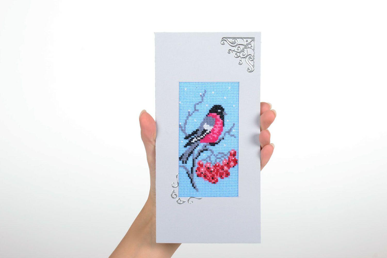 Designer card Bullfinch photo 5