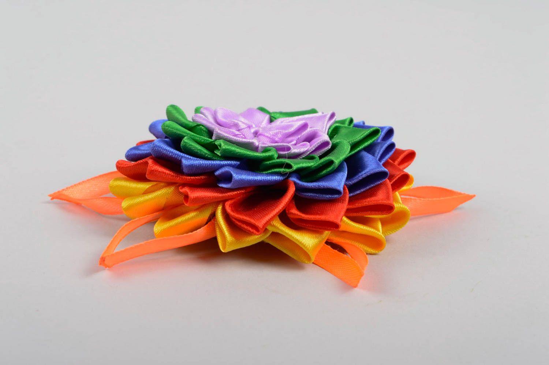 Handmade flower hair clip unusual bright hair clip cute accessory for kids photo 3