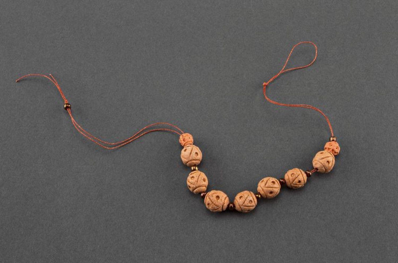 Керамический браслет в этническом стиле фото 4