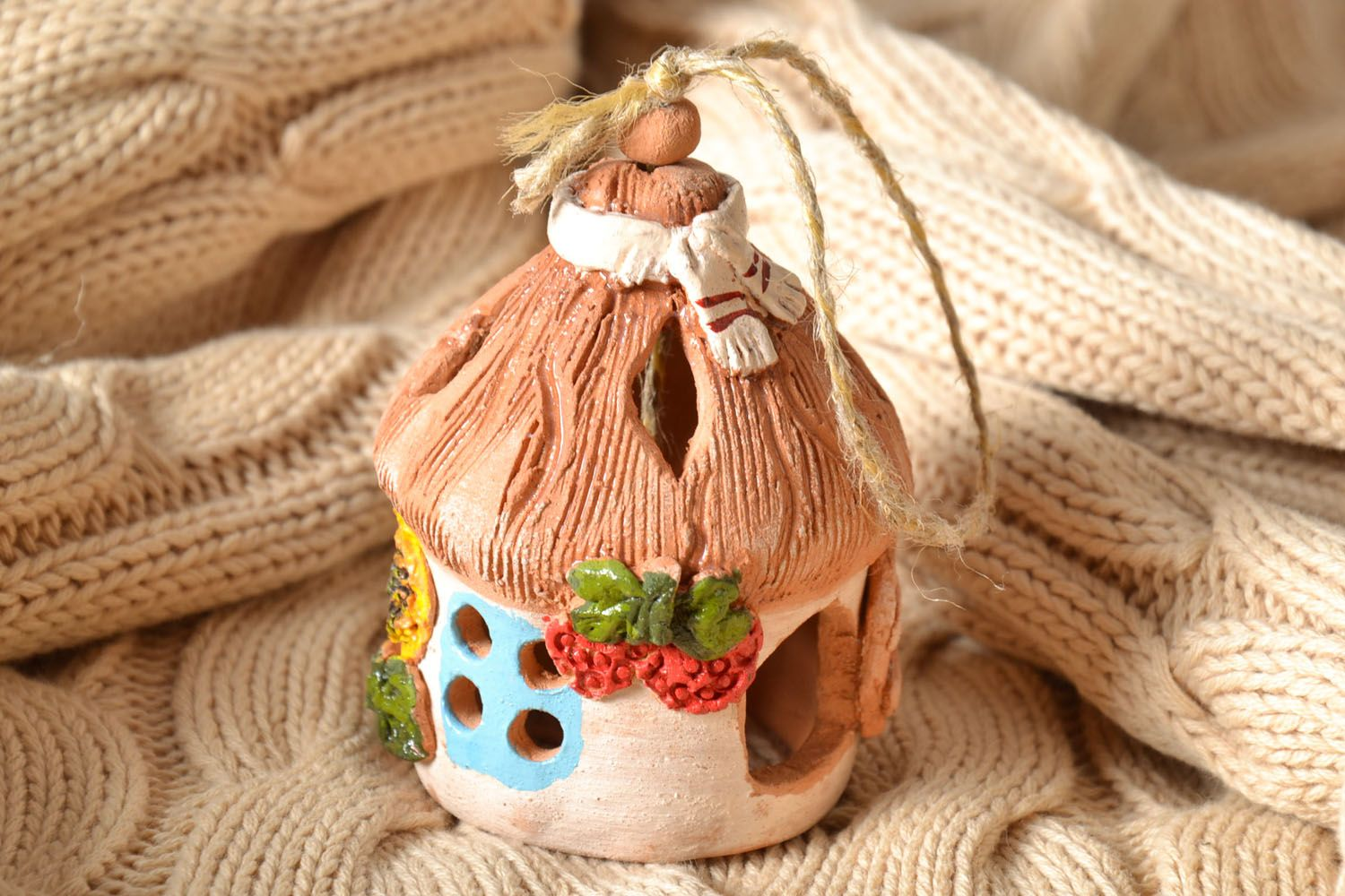 Ceramic painted bell photo 1