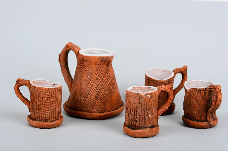 madeheart cafetera turca y 4 tazas para caf hechas a