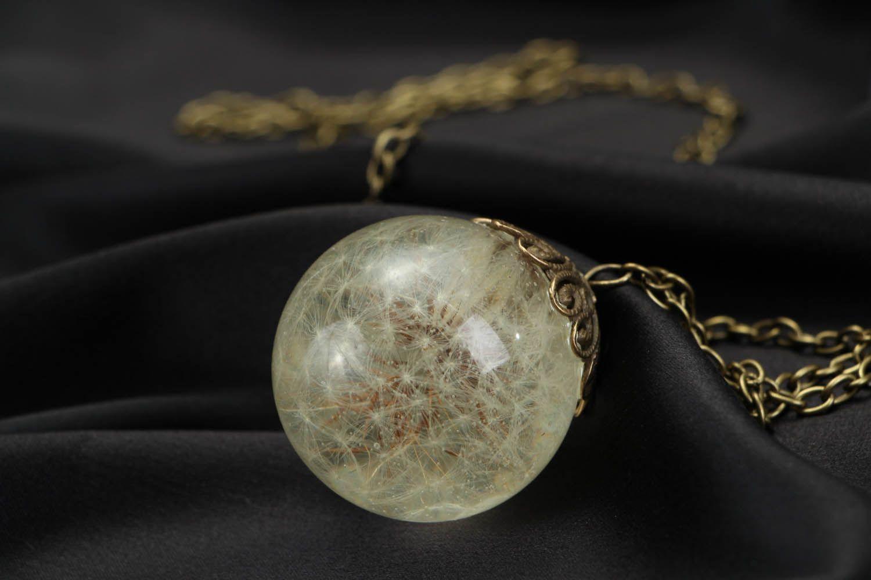 Pendant with dandelion  photo 4