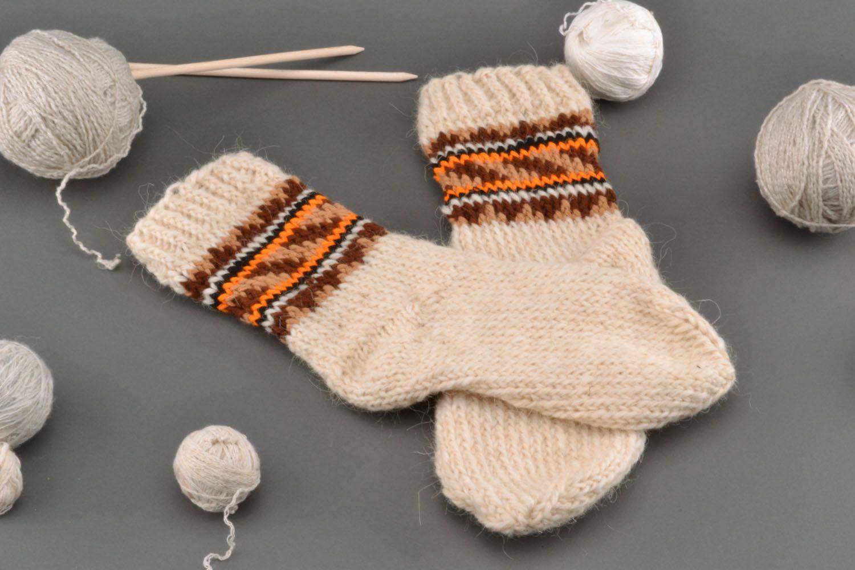 2b204c0d9 Calcetines de lana tejidos a mano