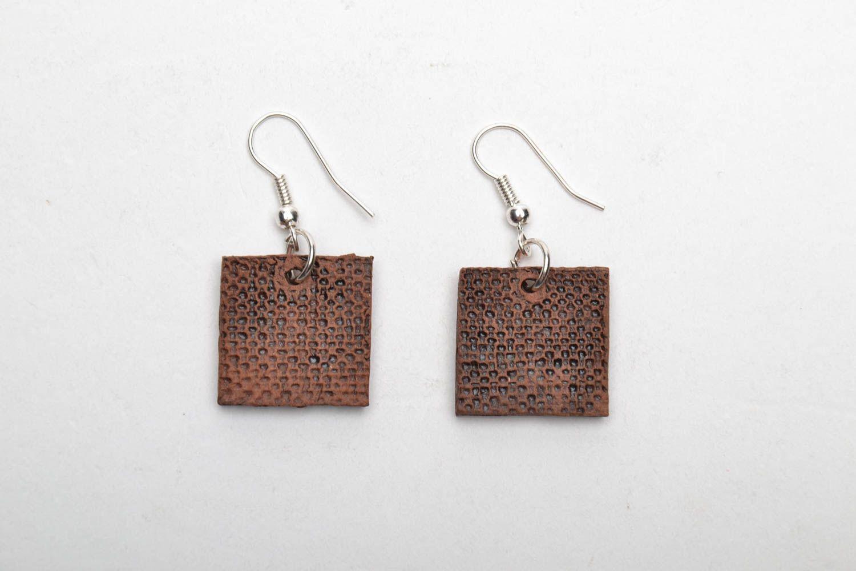 Ethnic ceramic earrings photo 5
