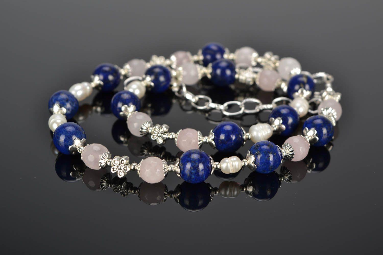 Halskette mit Natursteinen foto 1