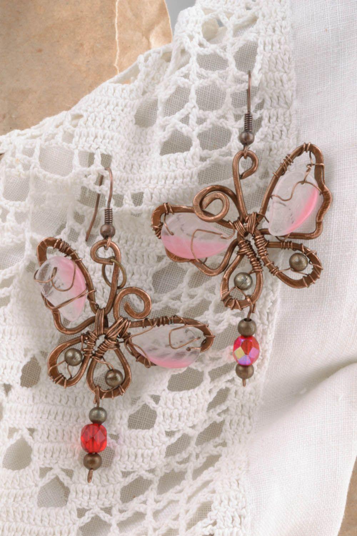 Copper earrings Dream photo 5