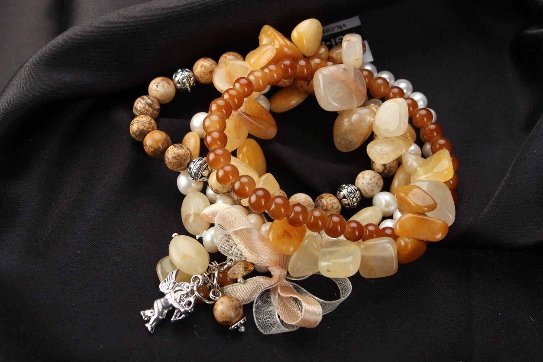 Naturstein Armband Set foto 1