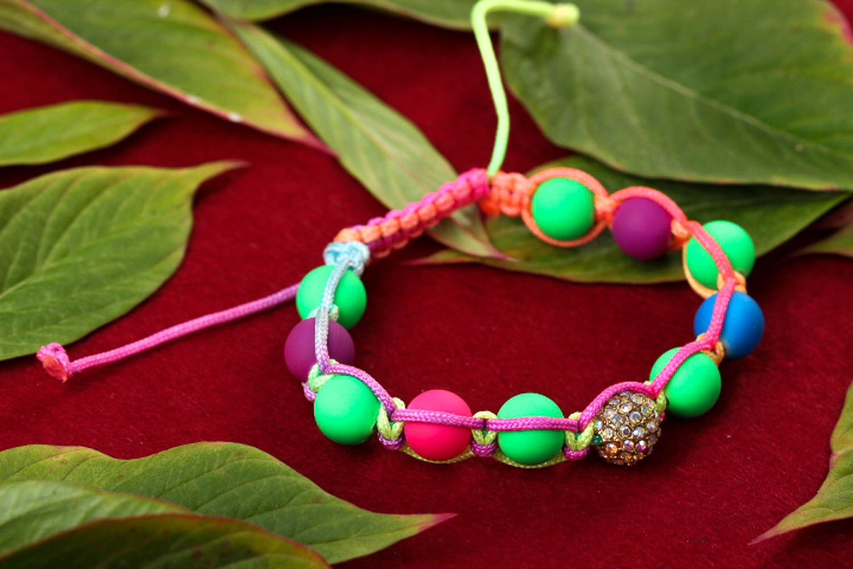 Handmade beaded bracelet summer bracelet interesting jewelry stylish accessories photo 1