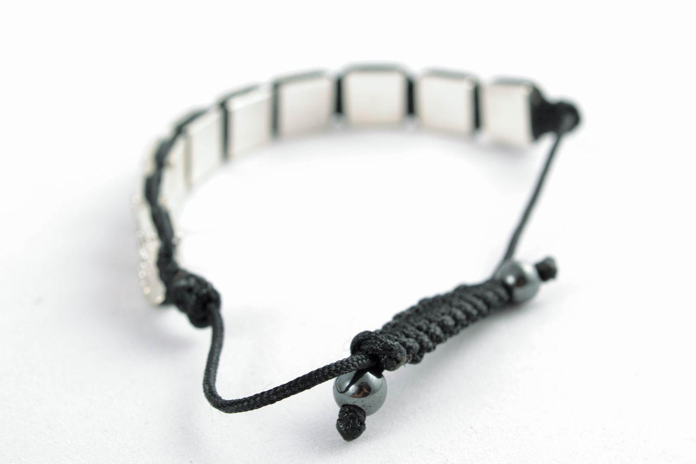 Designer bracelet with square beads photo 2