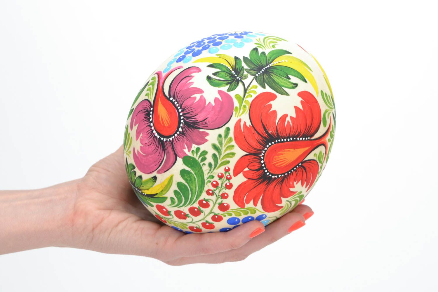 ostrich easter eggs Decorated ostrich egg collector handmade gift for Easter - MADEheart.com