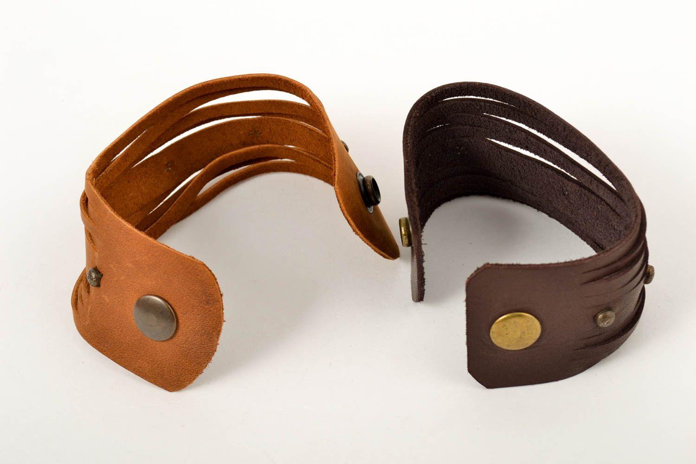 handmade jewelry set leather wrap bracelets handmade leather goods cool gifts photo 4