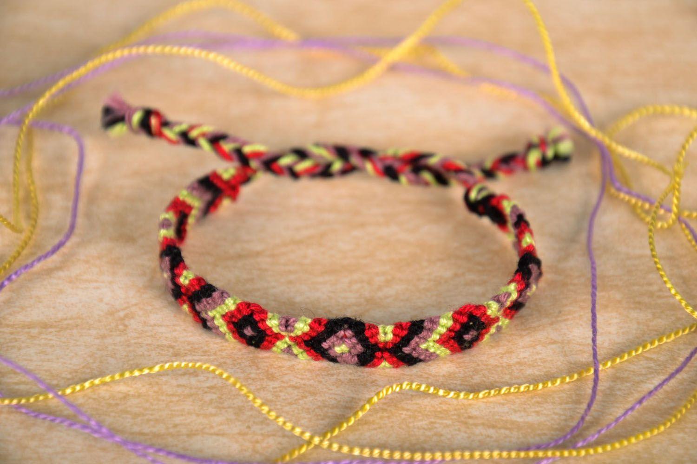Bright woven friendship bracelet photo 1