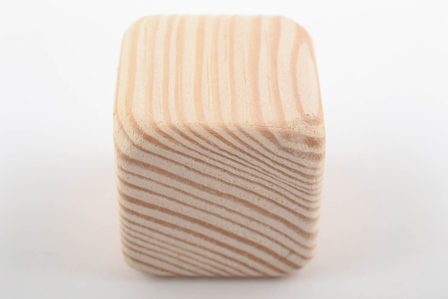 Handmade small pine wood craft blank for decoration cube toy art supplies photo 4