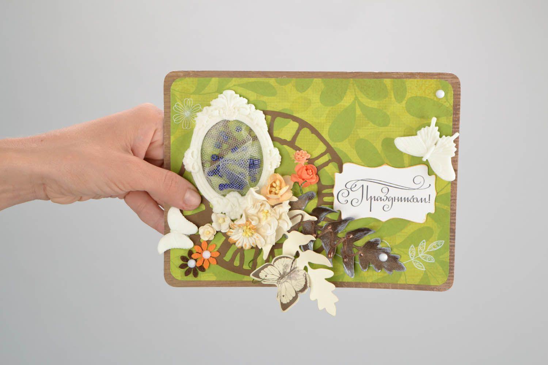 Decorative postcard of green colors photo 2