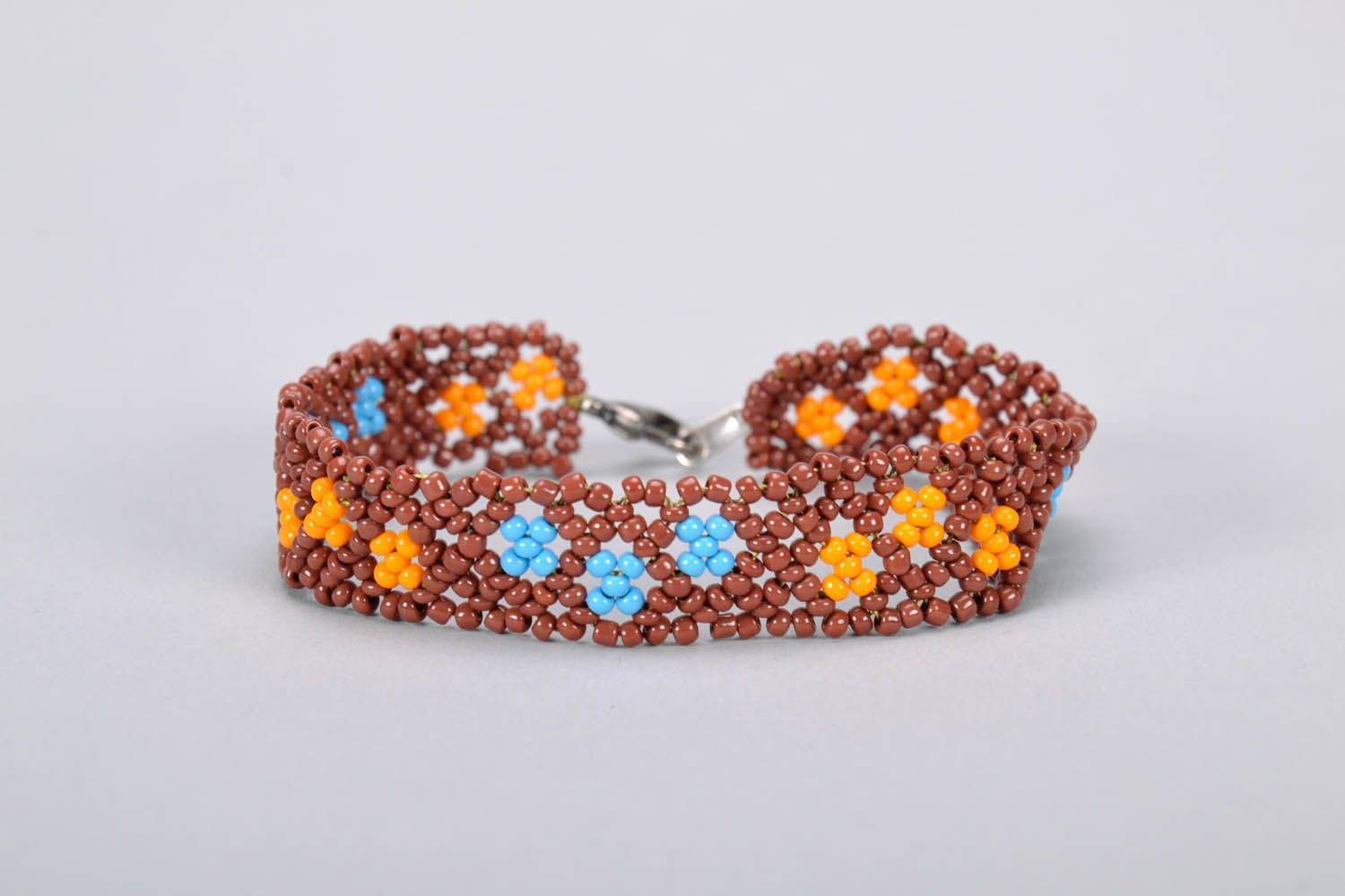 Woven beaded bracelet photo 3