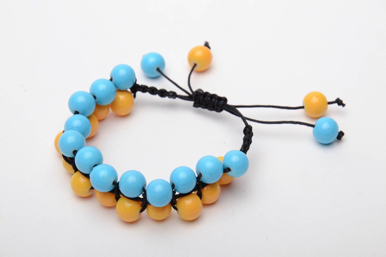 Bracelet woven of glass beads photo 4