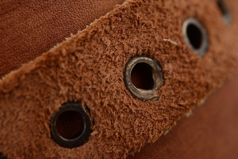 Кожаный браслет-напульсник фото 4