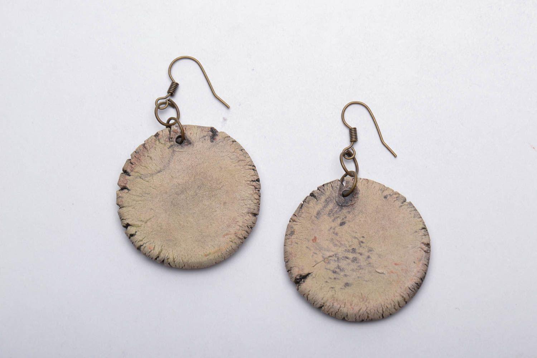 Painted ceramic earrings photo 5