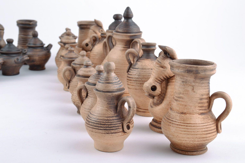 Авторские керамические фигурки для шахмат коллекционные ручной работы на подарок фото 5