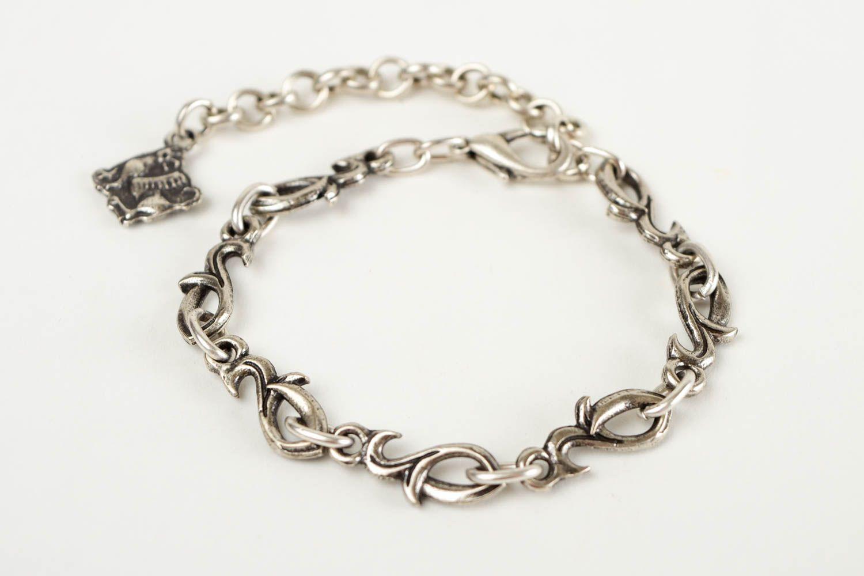 Thin handmade metal bracelet womens bracelet ideas handmade accessories photo 4