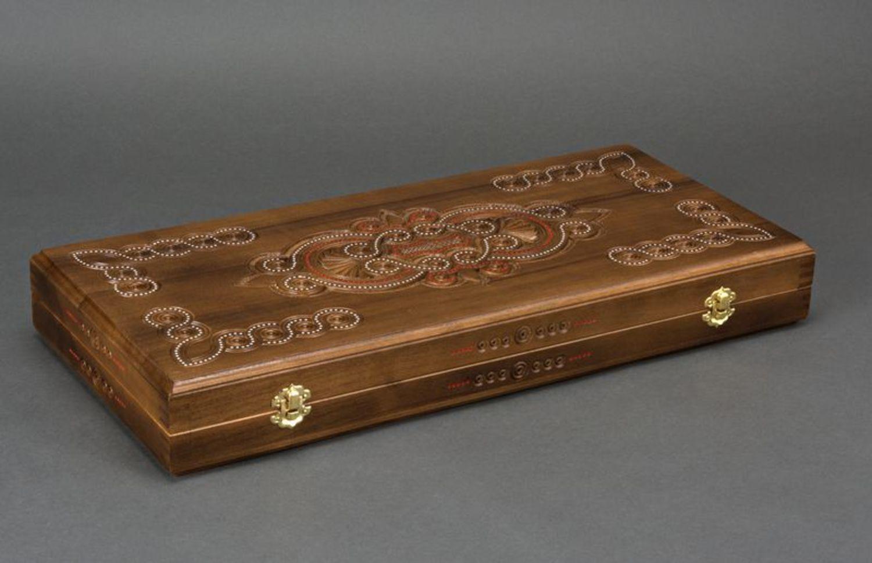 Wooden backgammon set photo 4