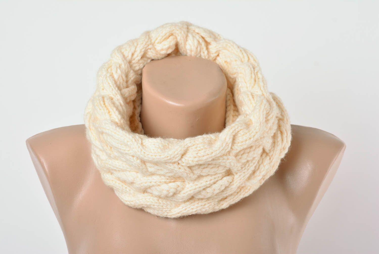 bufandas y palatinas Bufanda redonda de punto tejida a dos agujas de lana original artesanal ,