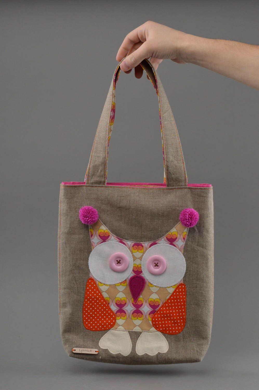 bolsas de mujer Bolso hecho a mano de tela regalo para niña bolso infantil con lechuza