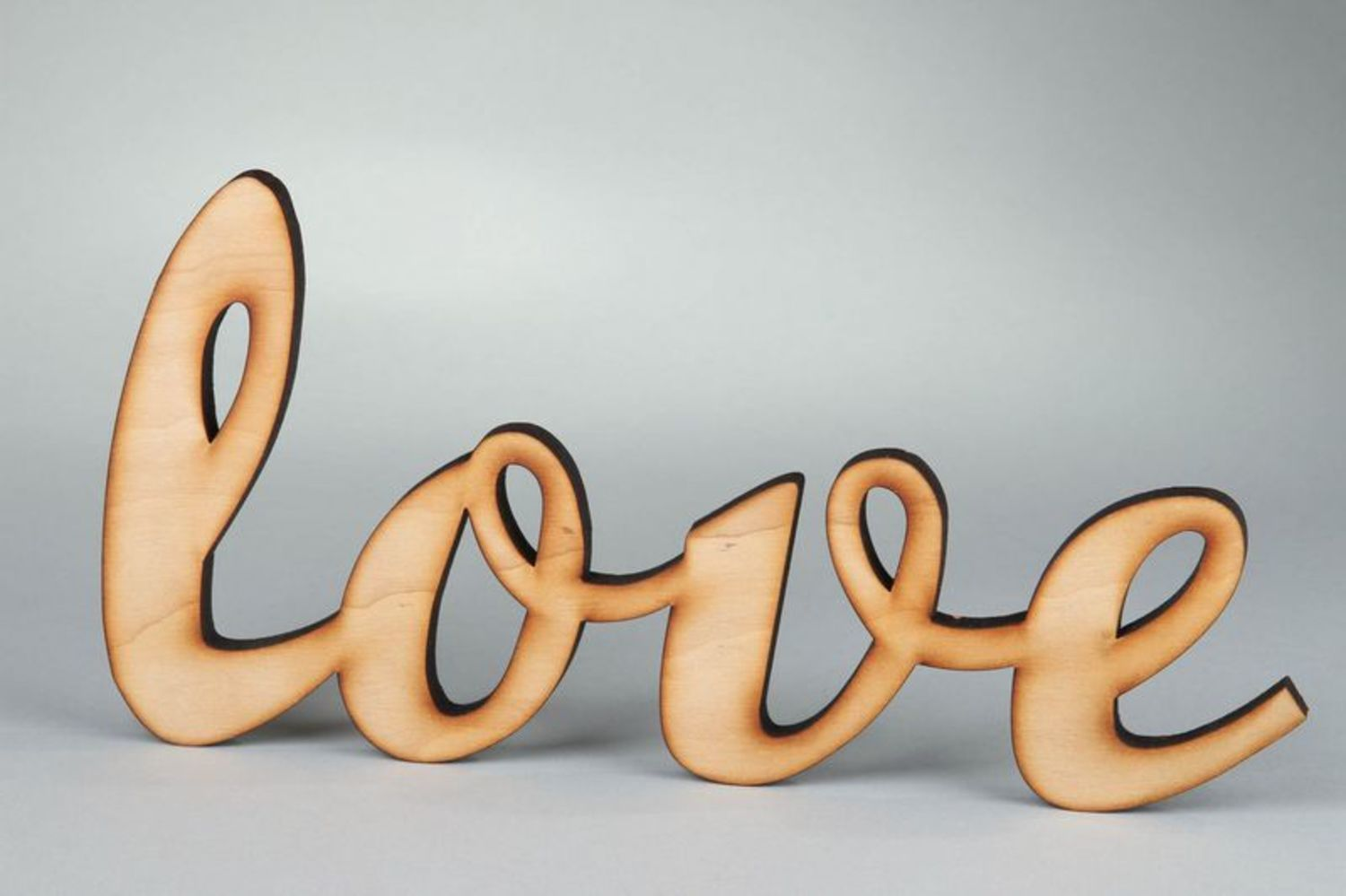 Chipboard word Love photo 2