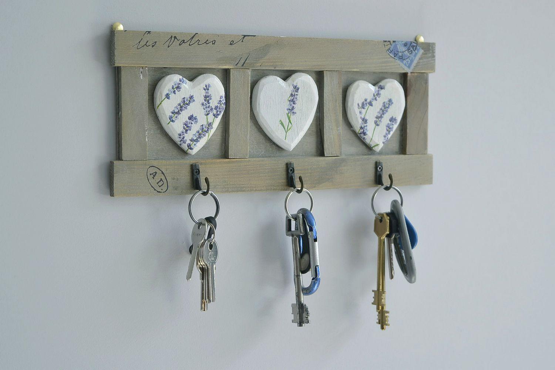 Madeheart colgadero para las llaves y toallas de cocina for Perchas para colgar llaves