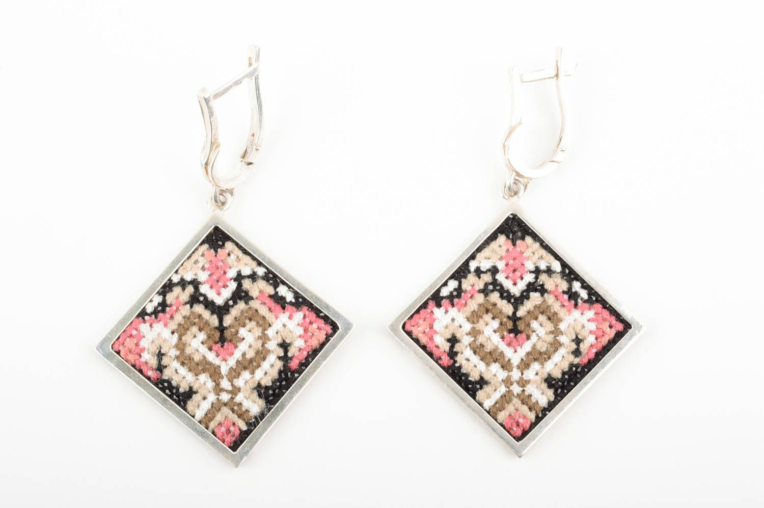 Stylish earrings handmade earrings handcrafted jewelry embroidery designs photo 1