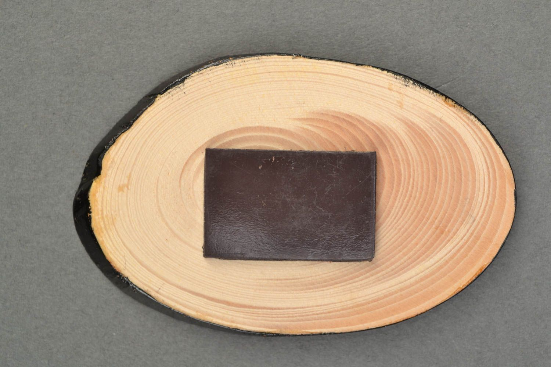 Wooden fridge magnet with Petrikivka painting photo 4