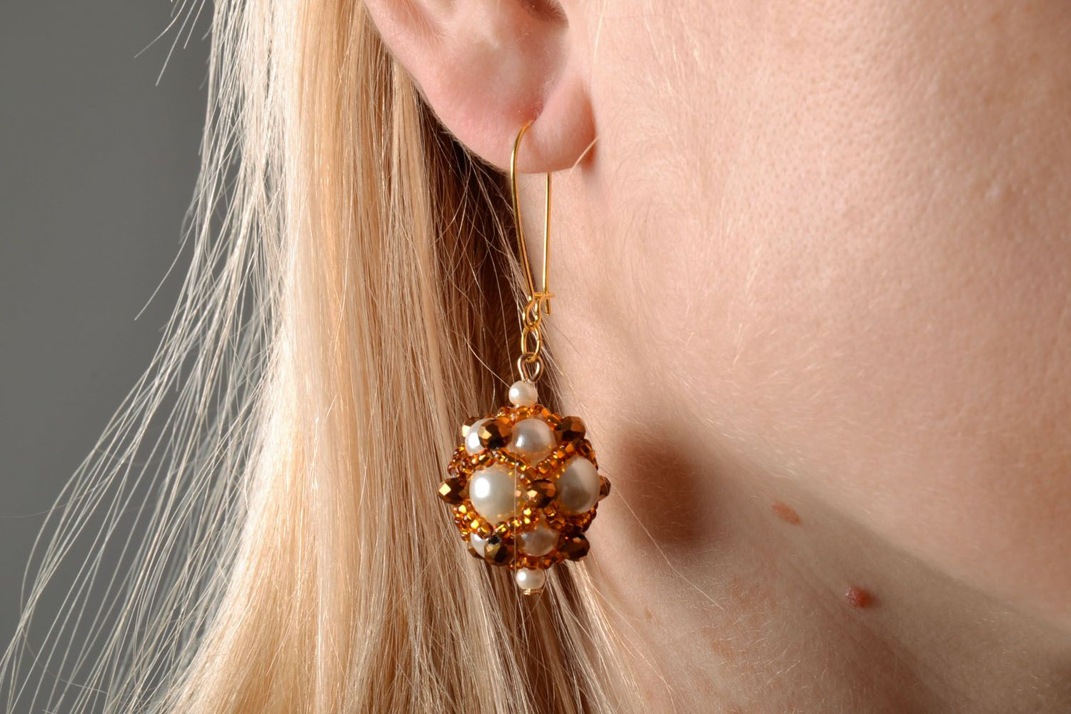 Unusual earrings with charms Golden East photo 5