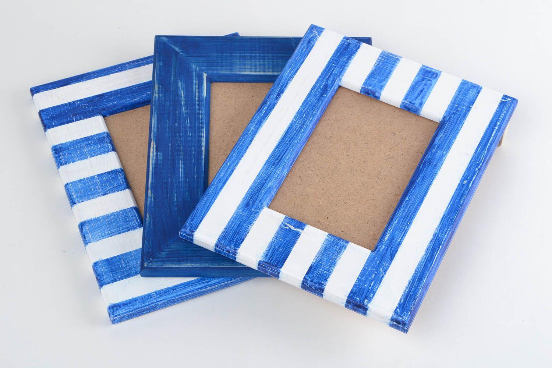 Madeheart marcos para fotos de madera hechos a mano originales estilosos bonitos 3 piezas - Cuadros originales hechos a mano ...