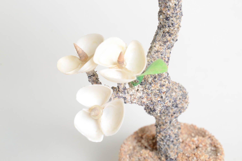 Handmade tree with flowers artificial tree decoration tree handmade gift photo 3