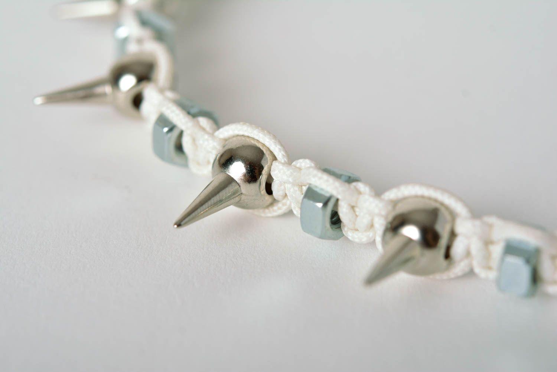 Spike necklace handmade necklace macrame necklace handmade thread jewelry  photo 3