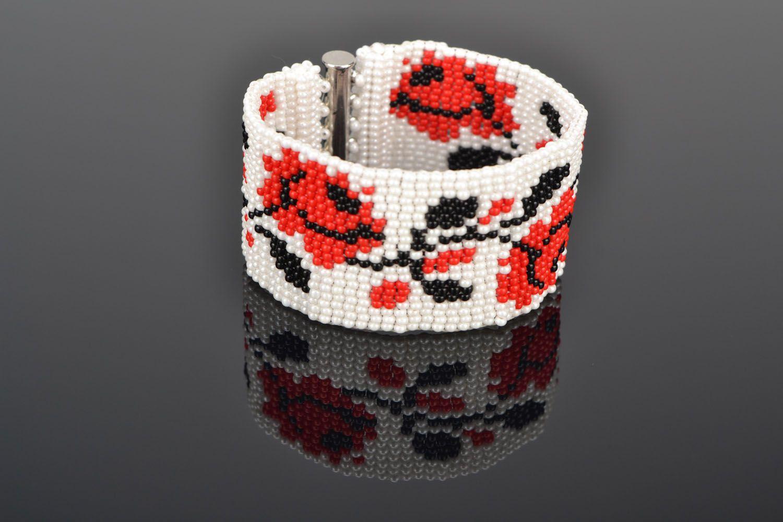 Buntes Armband aus Glasperlen foto 1