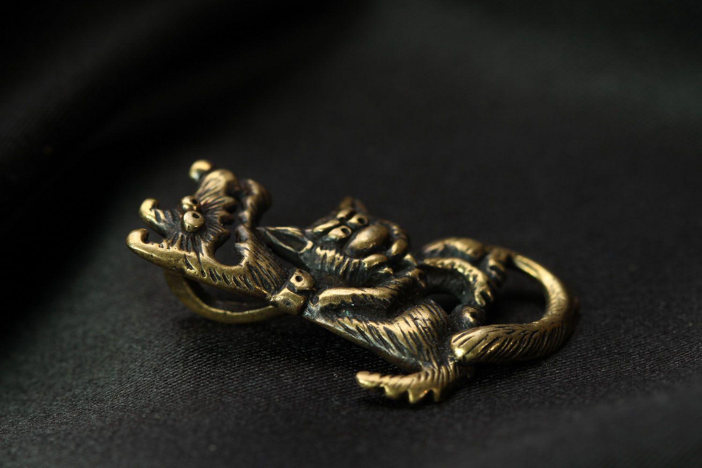 Bronze pendant Love is Evil photo 2