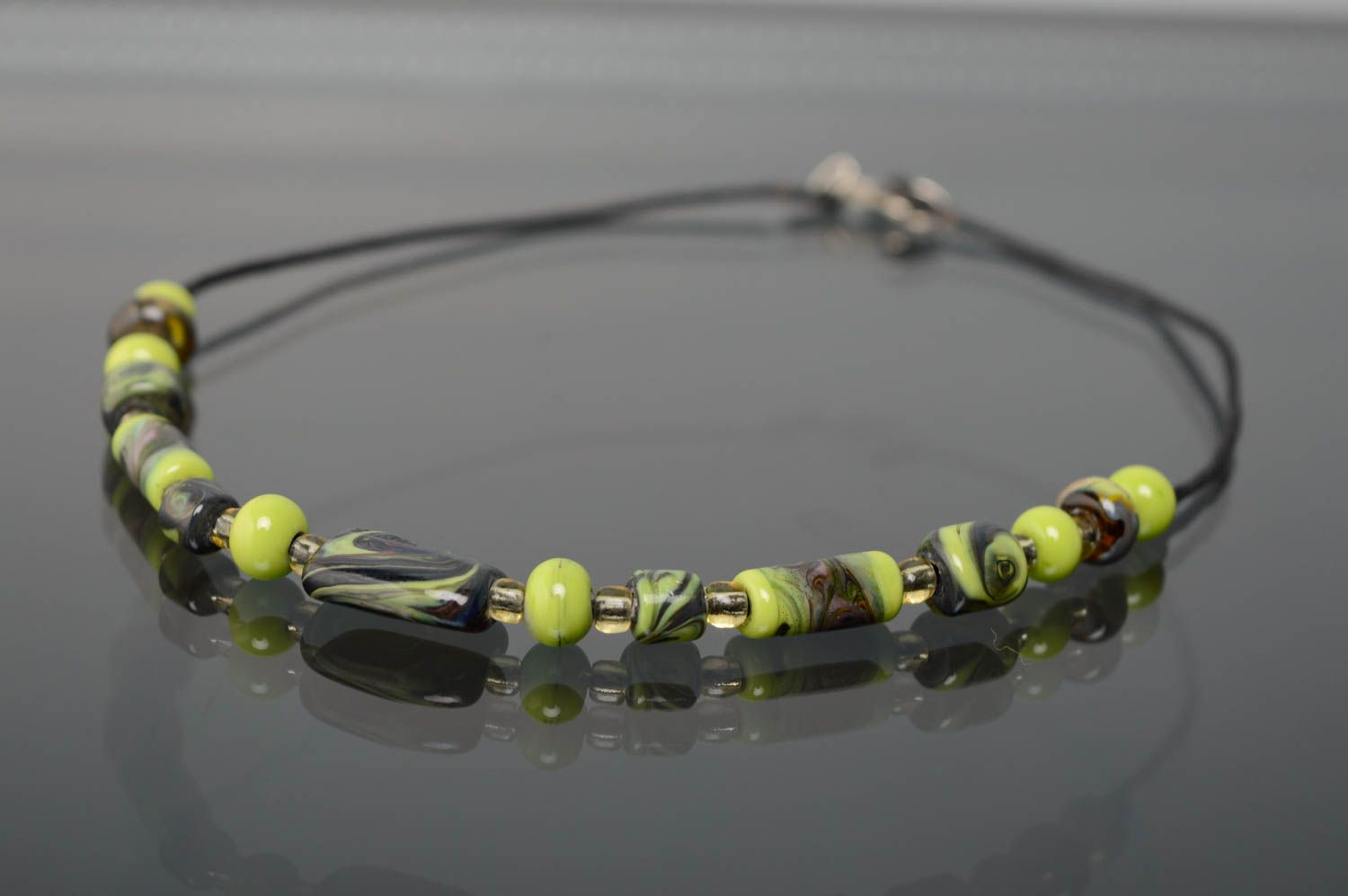 Lampwork glass necklace photo 1