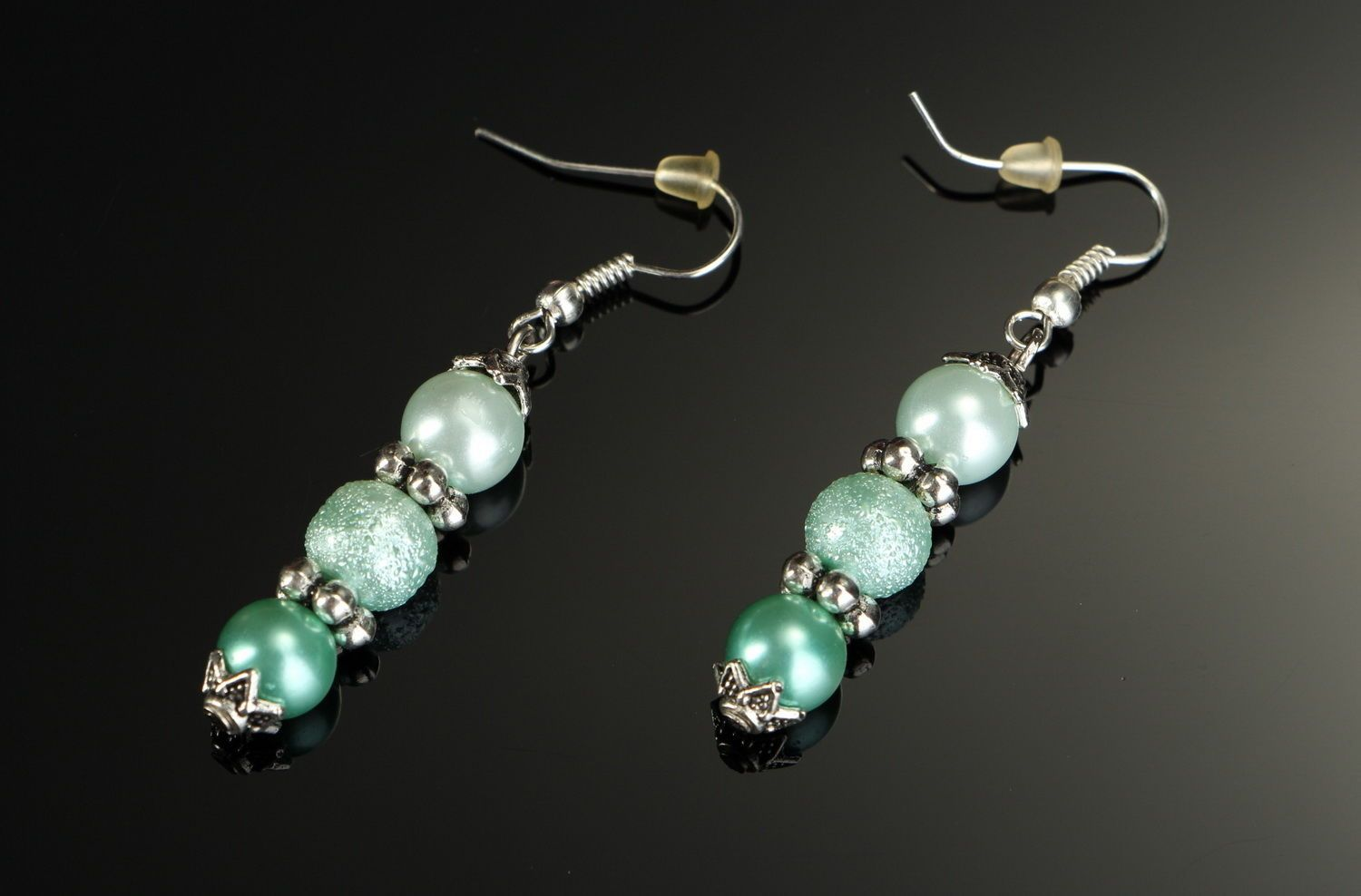 Earrings with pearls photo 1