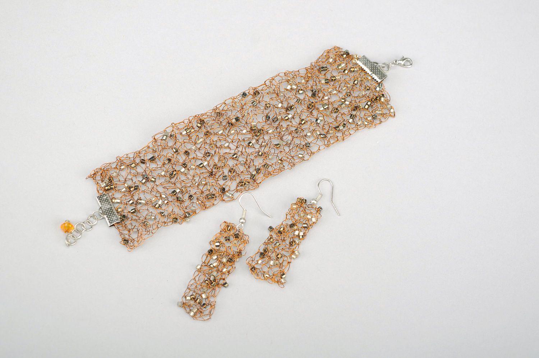 MADEHEART > Schmuck-Set Armband und Ohrringe aus Kupferdraht