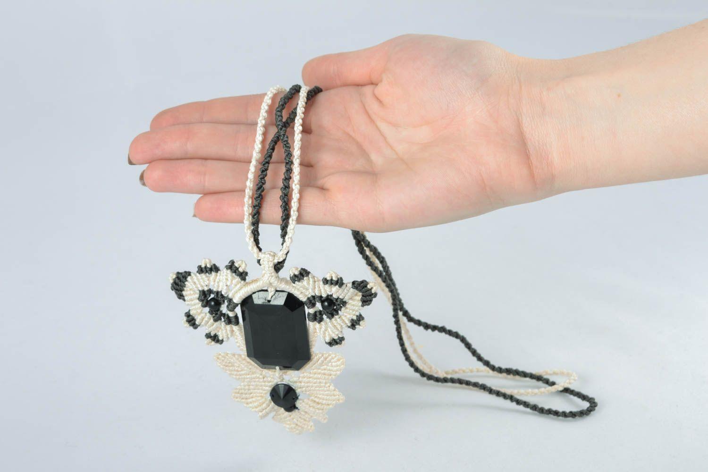 Macrame necklace photo 4