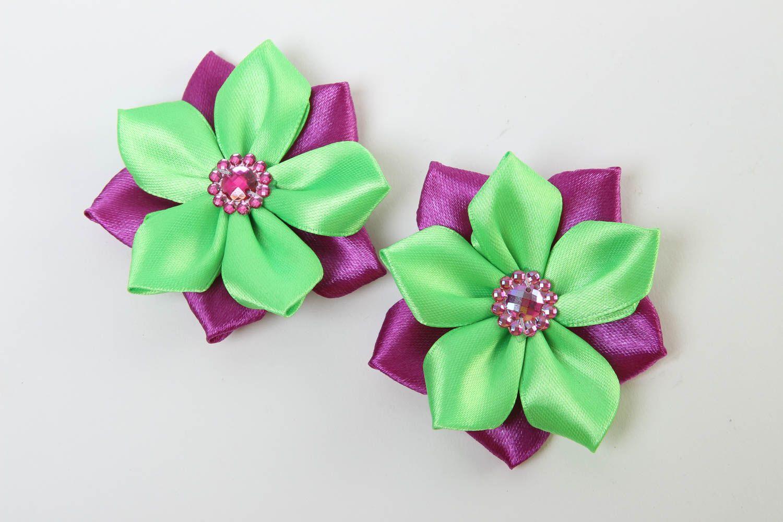 Handmade hair clip designer accessory for girls unusual gift flower hair clip photo 2