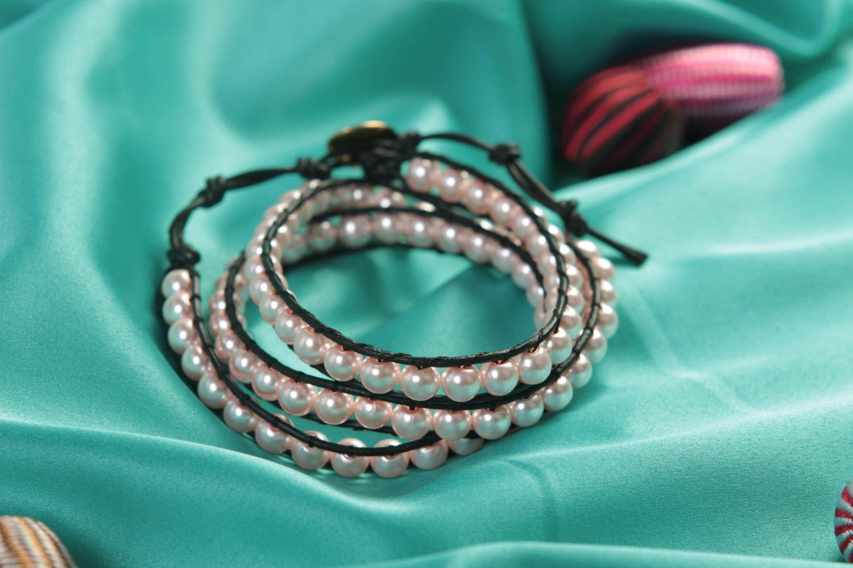 Handmade woven bracelet beaded bracelet designer accessory for every day photo 2