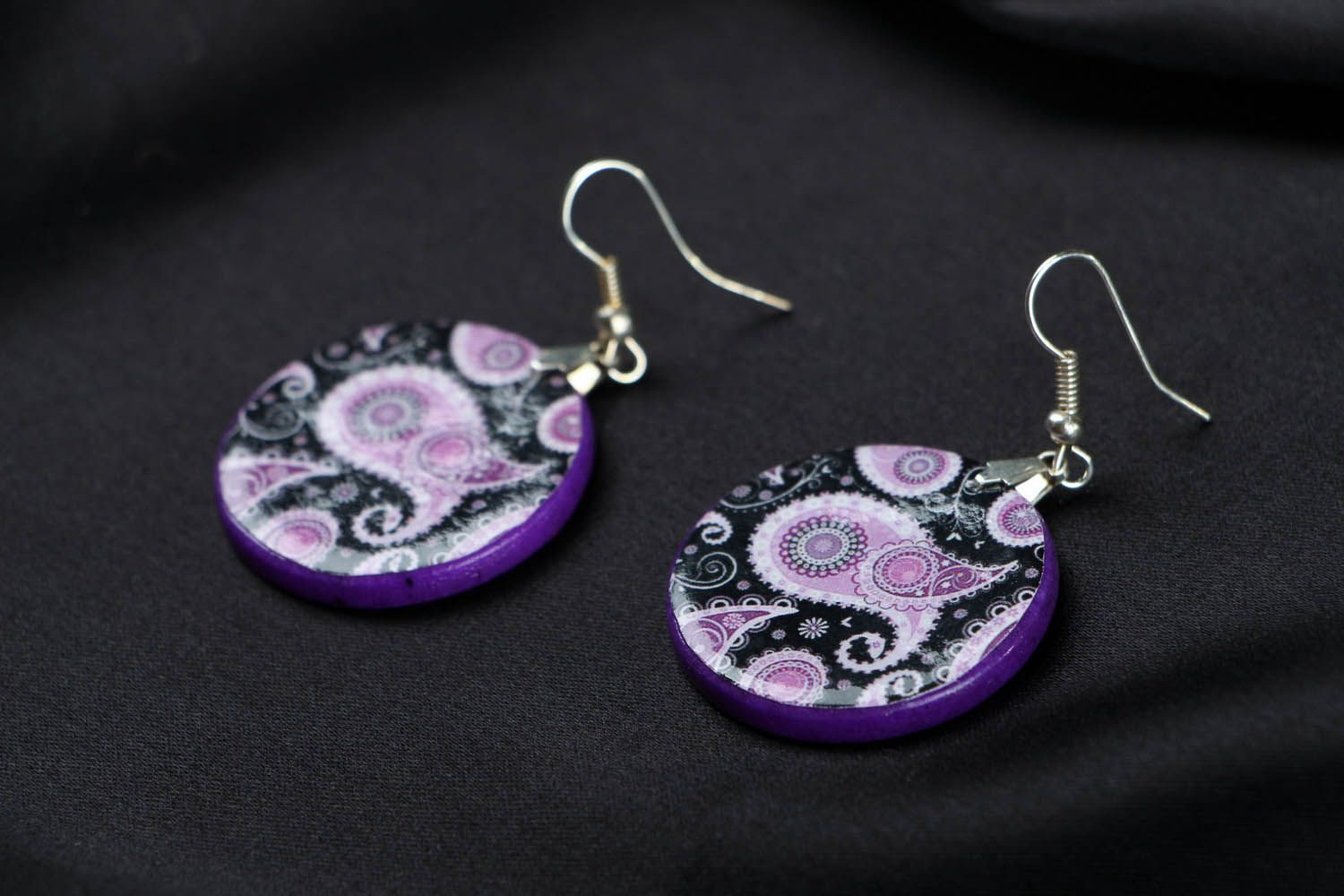 polymer clay earrings Polymer clay earrings - MADEheart.com