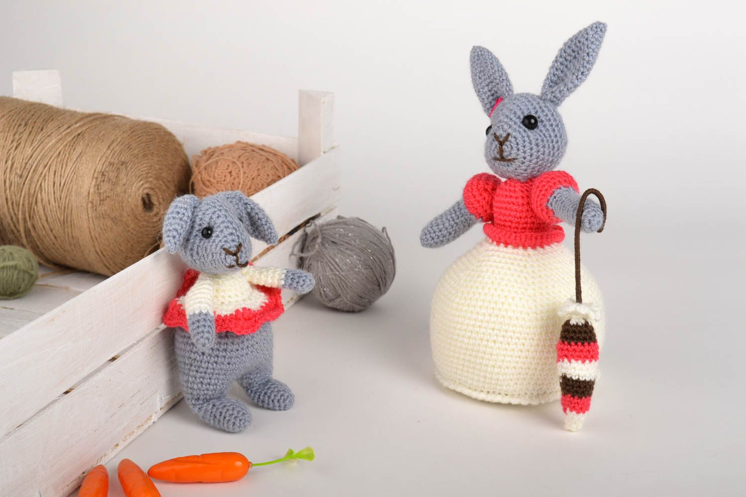 knitted toys Unusual handmade soft toys childrens toys 2 pieces knitted toy gifts for kids -