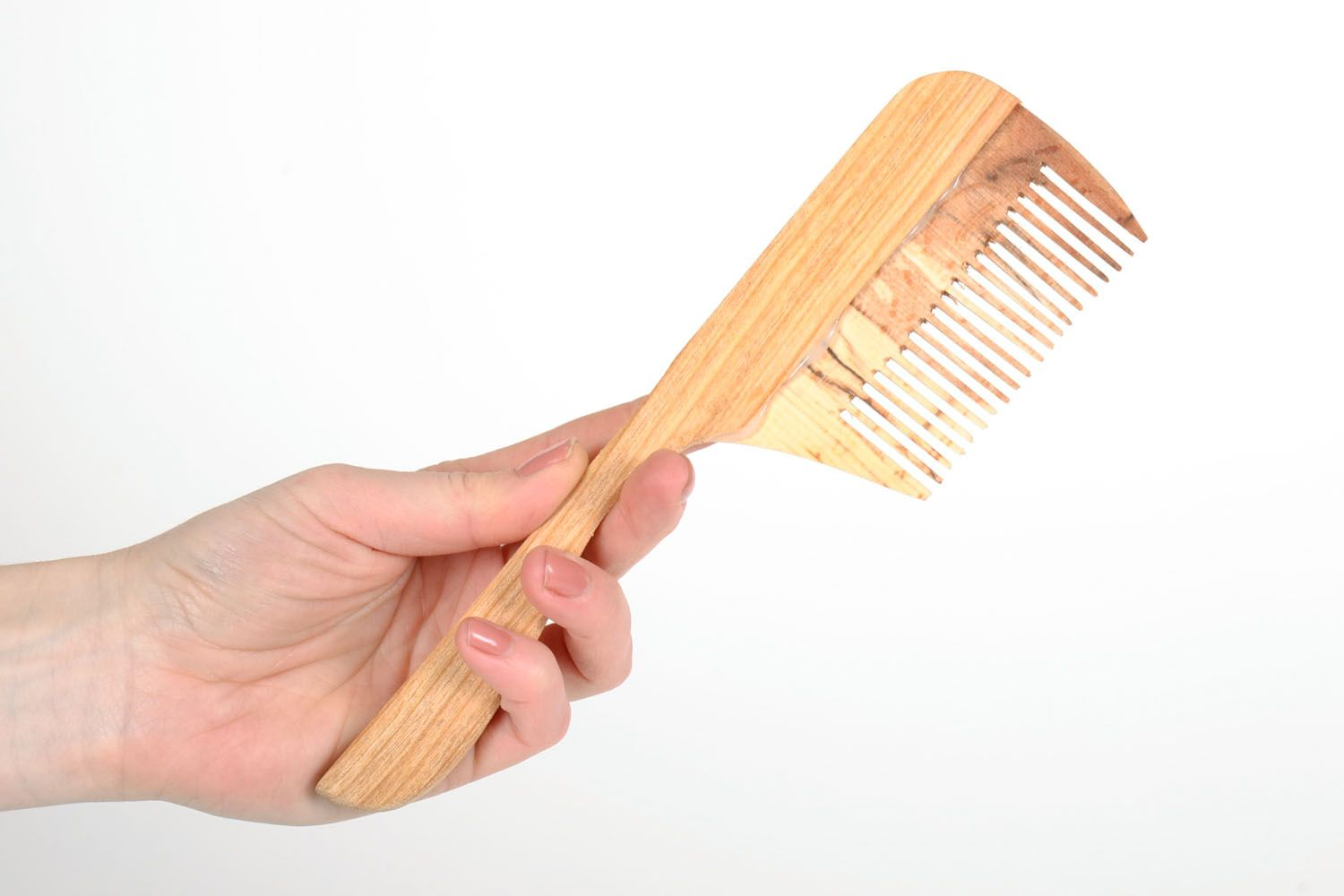 Wooden hair comb photo 5