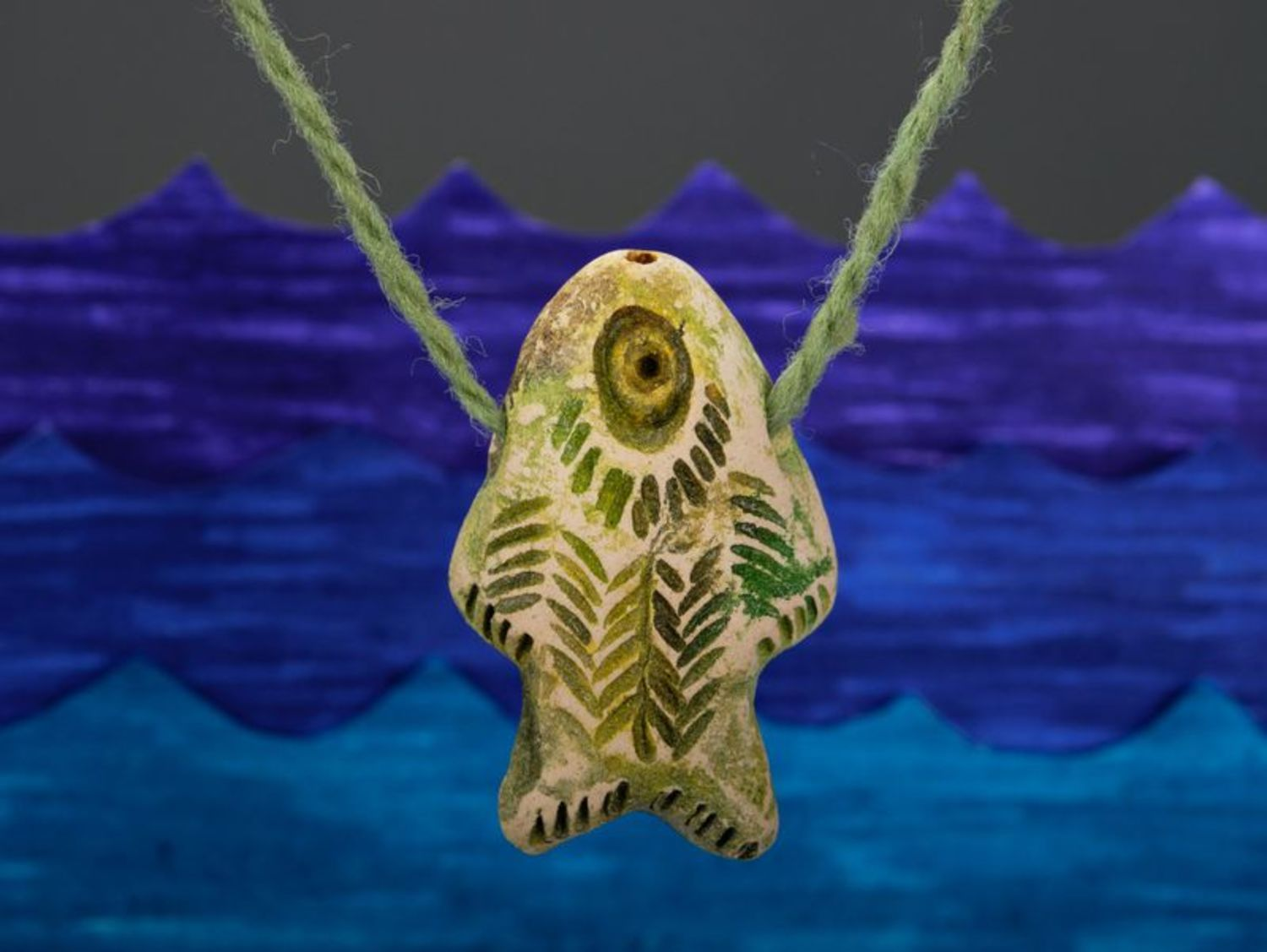 Ceramic pendant Vertical fish photo 1